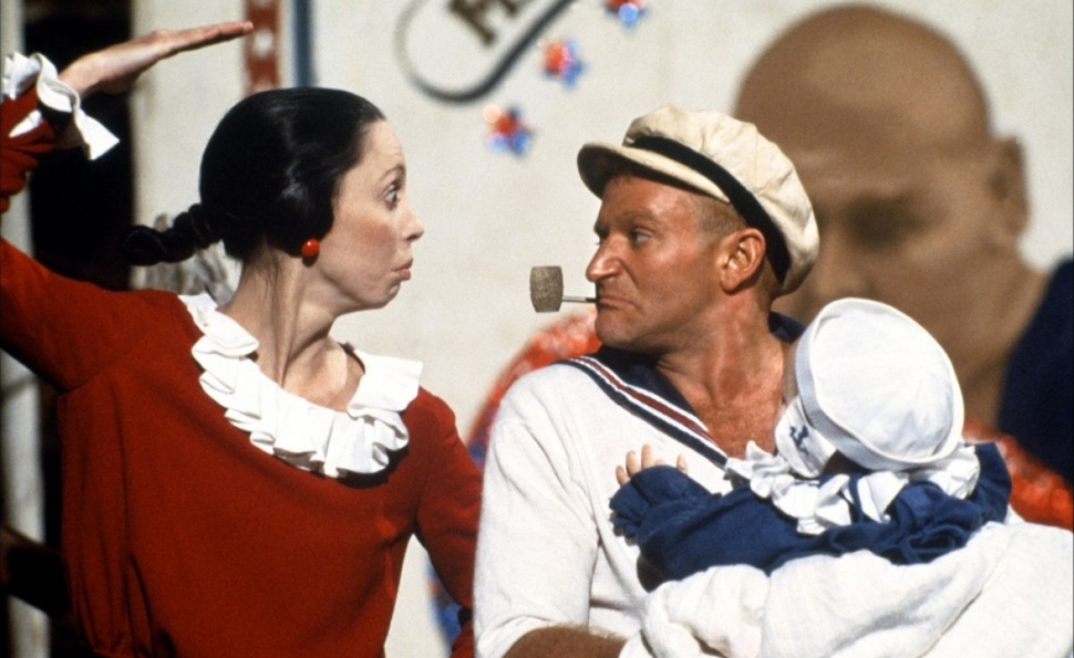 Shelly Duvall & Robin Williams in Popeye